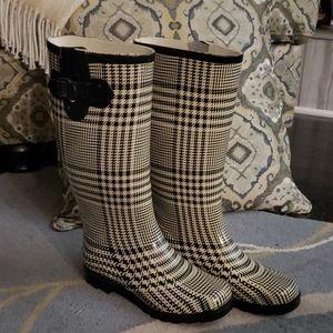 Henry Ferrera plaid rain boots size 7